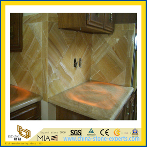 Polished Honey Onyx Marble Countertop for Kitchen/Bathroom (YQC)