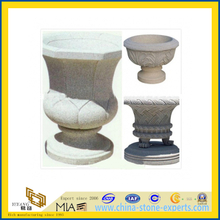 Natural Granite Stone Flower Plant Pot for Garden or Landscape(YQC)