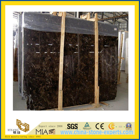 Polished Stone Dark Emperador Marble Slabs for Countertop/Vanitytop (YQC)