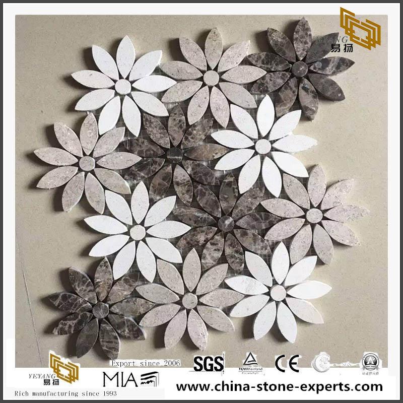 Popular Stone Tile Marble Mosaic Flowes Pattern Mosaic