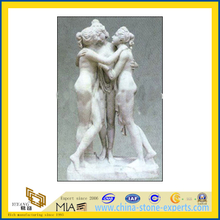 White Stone Marble Nude Female Sculpture/Statues for Outdoor Garden(YQG-LS1017)