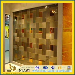 Glass / Natural Mosaic Wall Tile for Decoration / Background(YQT)