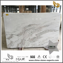 Hot Selling New Polished 2cm thickness Castro White Marble Slabs for Sale (YQW-MSA071102)