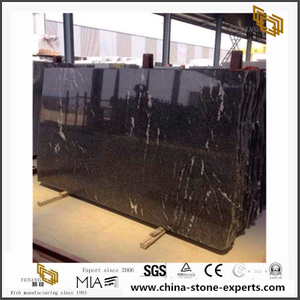 Black Granite Slab/ Snow Night Granite Cut to size tiles price