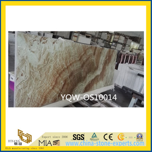 White / Brown Onyx Stone Slab for Wall with Cheap Price
