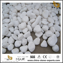 Pure White Pebble Stone High Polished Natural Cobble for projects