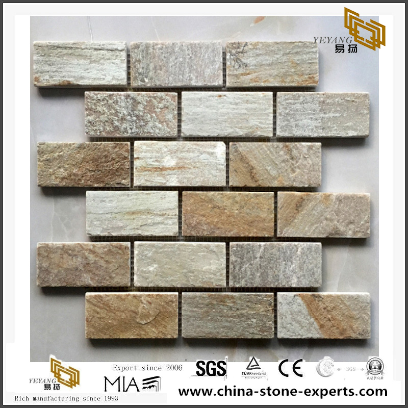 Mixed Size Slate Mosaic Tiles Chinese Multicolor New Choice