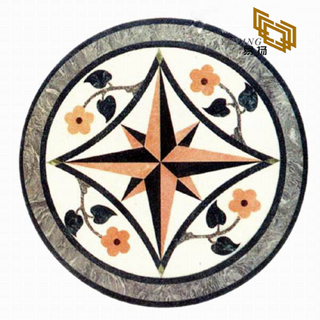 Light Color Natural Marble Granite Waterjet Medallion Butterfly Pattern