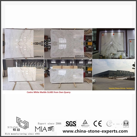 New 3cm Arabescato Venato White Marble for Bathroom Vanity tops (YQW-Alice060203)
