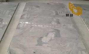 Chinese Viscount White Granite Stone Tiles for Hotel Bathroom Decor (YQW-11013G)