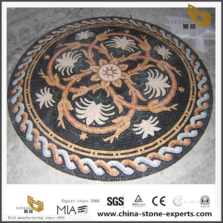 Mosaic Floor Tile Round Pattern Marble Mosaic Medallion For Floor Design