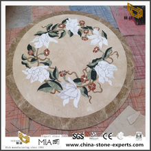 Medallion Polished Marble Tiles Waterject Template For Floor And Bathroom