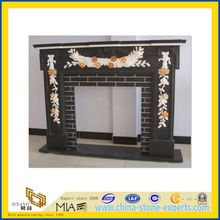Black Stone Fireplace Mantel / Fire Place (YQA)