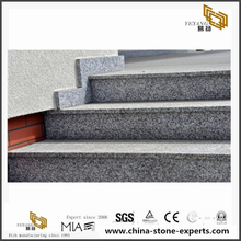Grey granite Stone tiles with eased edges for stairs projects