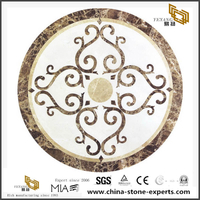 Flower Pattern Waterjet Marble Mosaic Tiles China Medallion Tiles Export