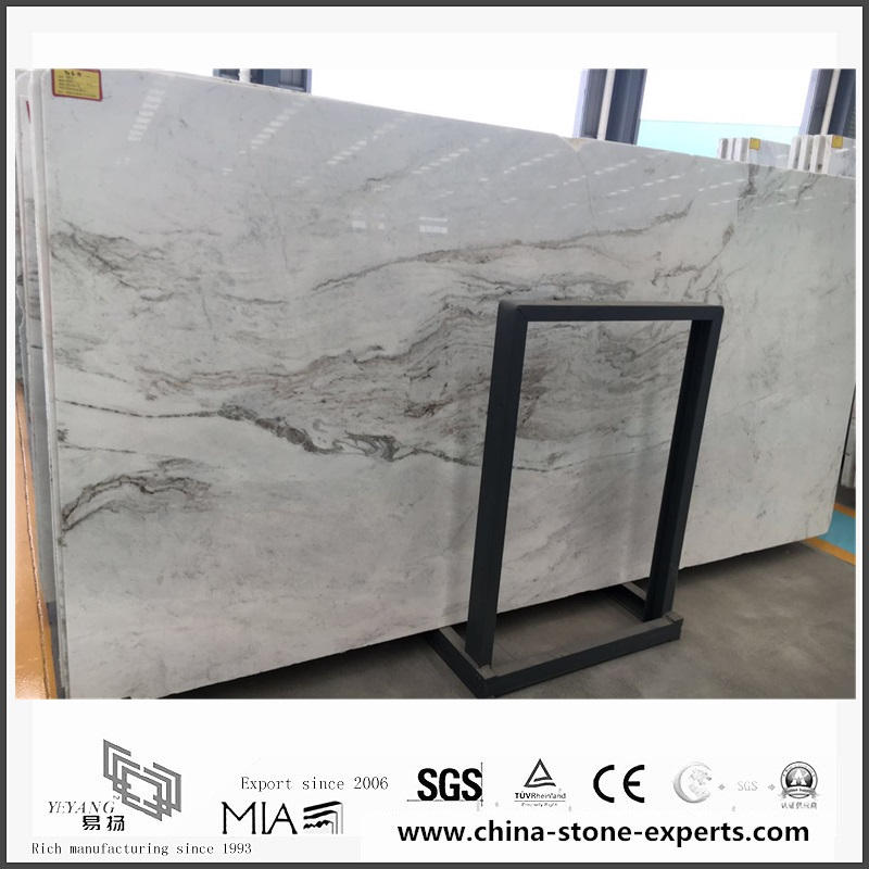 New Polished Arabescato Venato White Marble for Floor Tiles (YQW-MSA0621008)