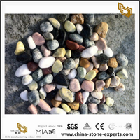 Natural Cobble stone For Garden Mixed Color Polished