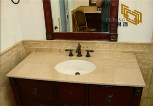 Botticino Classico Marble Vanity tops for Hotel (YQW-110028C)