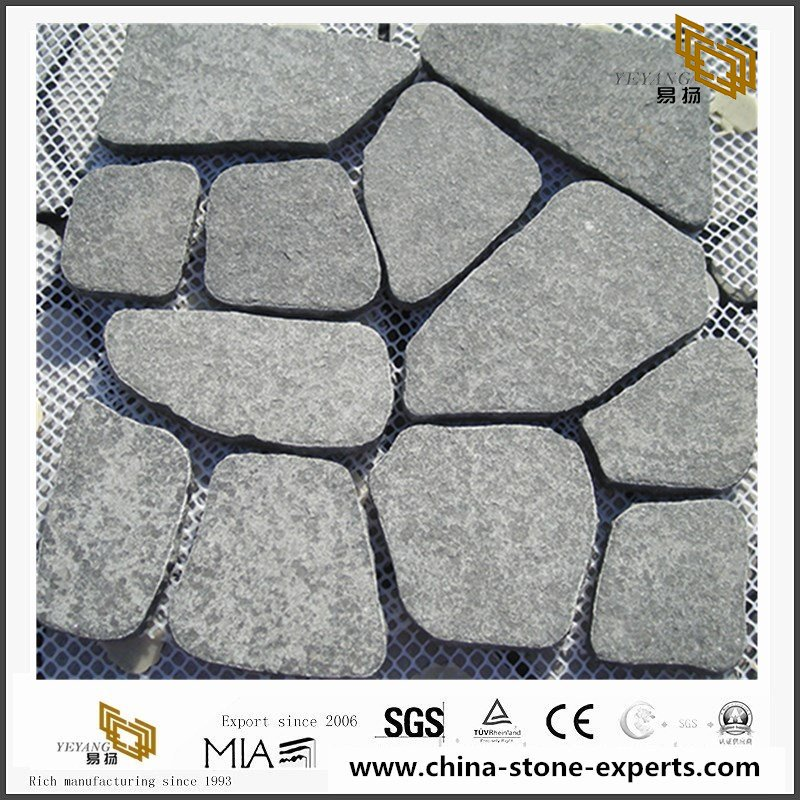 Round Shape Grey Granite Paving Stone for Decoration