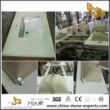 Prefab Quartz Stone Vanity Top for Project