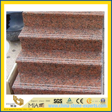 Red Honed Granite Stairs for Outdoor Floor Paving