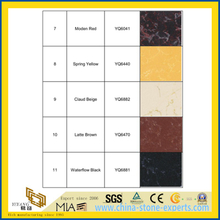 Vein Moden Black/Red/Yellow/Beige/Brown Artificial Quartz Bathroom Wall Tiles for Home/Commercial/Hotel