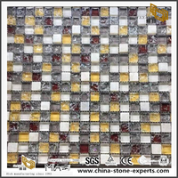 Mixed Colorful Glass Marble Gem Mosaic For Decoration Product