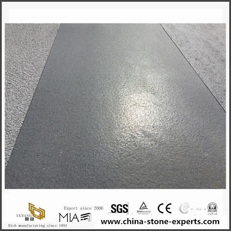 Hainan Grey Basalt Brushed Tiles Finish