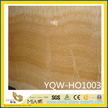 Polished Yellow Honey Onyx Wall Tile for Hotel Decoration