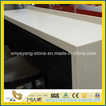 Beige White Artificial Quartz Table Top / Bar Top for Kitchen