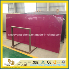 Rosy Artificial Quartz Stone Slab for Kitchen Counter Top
