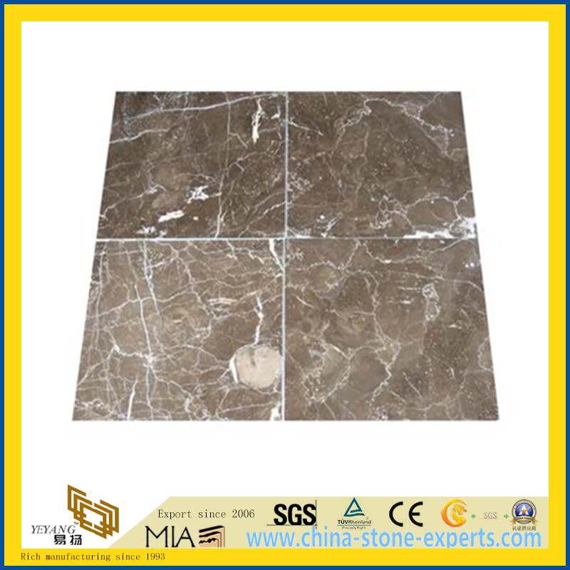 Chinese Light Emperador Marble Tile for Flooring Decoration