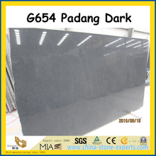 China G654 Padang Dark Polished Granite Slabs for floor / wall