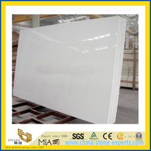 White Artificial Slab Quartz for Kictchen/Bathroom Countertop (YQC)