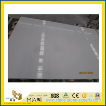 White Engineered Artificial Marble Slab Quartz for Floors Countertop (YQC)