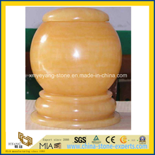 High Polished Honey Onyx Cremation Urn / Funeral Urn / Decorative Urn