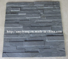 Building Material Black Slate Stack Stone for Wall Panel