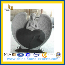 Carving Marble Angel Tombstone (YQZ-MN)