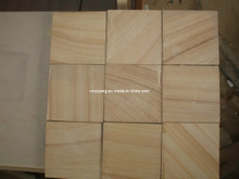 Wooden Yellow Sandstone for Wall Tile and Cladding Material