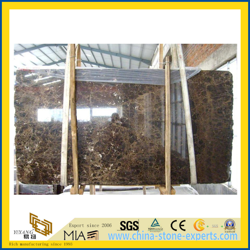 Polished Dark Emperador Marble Slabs for Wall Flooring (YQG-MS1021)