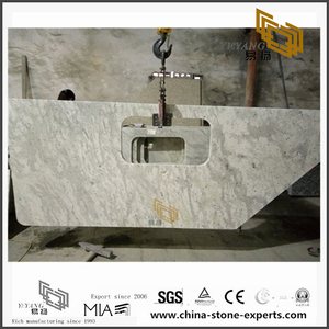 Quality Andromeda White Granite Countertops for Kitchen Design (YQW-GC071406)