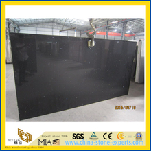 Crystal Black Artificial Quartz Stone for Kitchen/Bathroom/School Floor Tiles
