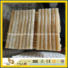 Yellow Honey Onyx Pencil Liner / Onyx Moulding for Building Material