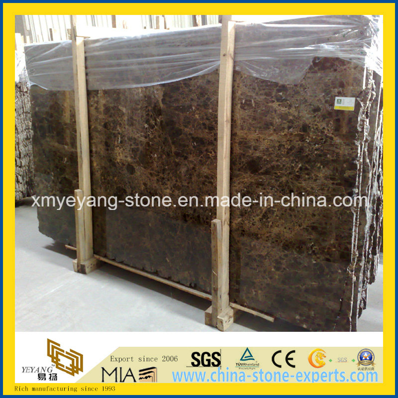 Dark Emperador Marble Slab for Vanitytop or Walling