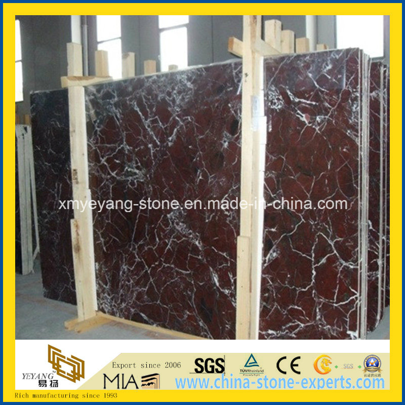 Rosso Lepanto Marble Slab for Flooring or Wall