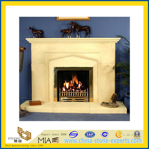 Indoor Decoration Natural Stone Carving Marble Fireplace (YQG-F1001)