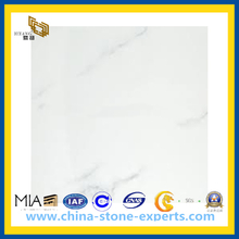 Italian White Carrara Marble for Tile, Countertop, Slab(YQC)