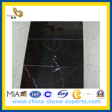 China Black Nero Marquina Marble Tile for Flooring, Walling (YQC)