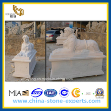 White Polished Marble Stone Sculpture for Garden(YQG-CS1046)