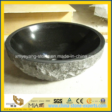 High Polished Shanxi Black Granite Stone Bowl Basin